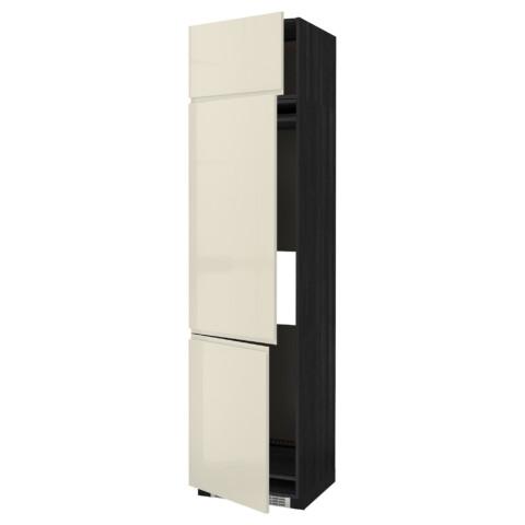 Высокий шкаф для холодильника или морозильника, с 3 дверями МЕТОД черный артикуль № 591.435.73 в наличии. Интернет сайт ИКЕА Республика Беларусь. Быстрая доставка и соборка.