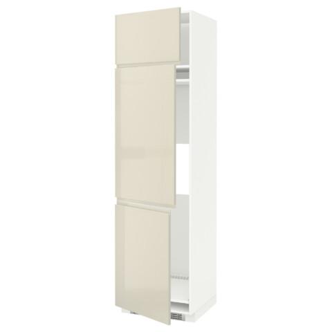 Высокий шкаф для холодильника или морозильника, с 3 дверями МЕТОД белый артикуль № 791.435.72 в наличии. Онлайн каталог IKEA Минск. Быстрая доставка и монтаж.