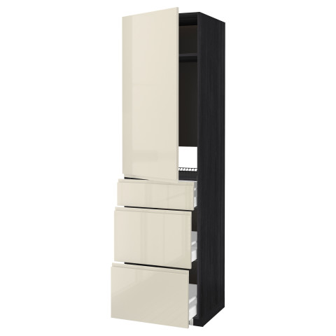 Высокий шкаф для холодильника, с дверцами, 3 ящика МЕТОД / МАКСИМЕРА черный артикуль № 091.683.49 в наличии. Интернет сайт IKEA РБ. Быстрая доставка и соборка.