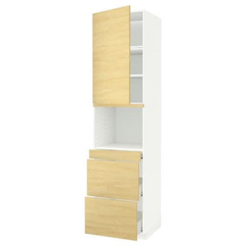Высокий шкаф для СВЧ/дверца, 3 ящика МЕТОД / ФОРВАРА белый артикуль № 491.710.24 в наличии. Интернет сайт IKEA Республика Беларусь. Недорогая доставка и соборка.