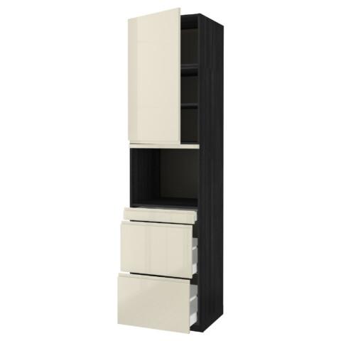 Высокий шкаф для СВЧ/дверца, 3 ящика МЕТОД / МАКСИМЕРА черный артикуль № 191.704.98 в наличии. Онлайн сайт IKEA Республика Беларусь. Быстрая доставка и соборка.