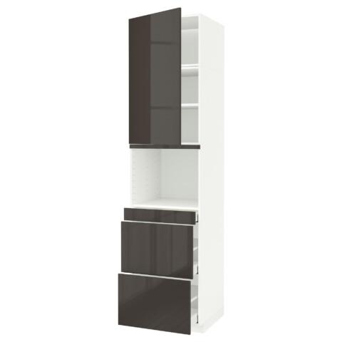 Высокий шкаф для СВЧ/дверца, 3 ящика МЕТОД / МАКСИМЕРА белый артикуль № 291.705.20 в наличии. Онлайн сайт IKEA Беларусь. Быстрая доставка и монтаж.