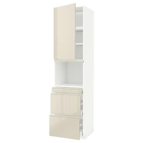 Высокий шкаф для СВЧ/дверца, 3 ящика МЕТОД / МАКСИМЕРА белый артикуль № 391.705.34 в наличии. Интернет сайт IKEA РБ. Недорогая доставка и монтаж.