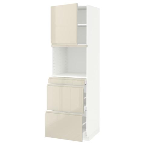 Высокий шкаф для СВЧ/дверца, 3 ящика МЕТОД / МАКСИМЕРА белый артикуль № 691.703.92 в наличии. Онлайн магазин IKEA Беларусь. Быстрая доставка и монтаж.