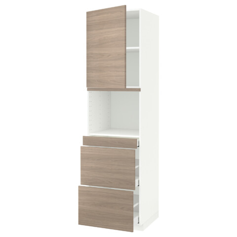 Высокий шкаф для СВЧ/дверца, 3 ящика МЕТОД / МАКСИМЕРА белый артикуль № 691.704.34 в наличии. Онлайн сайт IKEA Минск. Быстрая доставка и соборка.