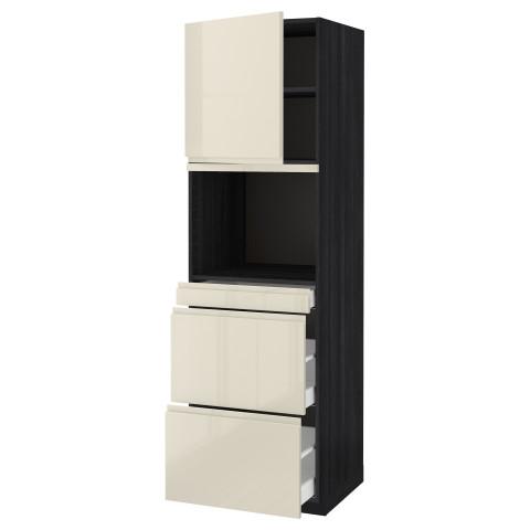 Высокий шкаф для СВЧ/дверца, 3 ящика МЕТОД / МАКСИМЕРА черный артикуль № 991.703.57 в наличии. Онлайн сайт IKEA Беларусь. Недорогая доставка и соборка.