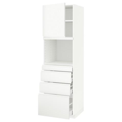 Высокий шкаф для СВЧ/дверца/4ящика МЕТОД / МАКСИМЕРА белый артикуль № 291.705.44 в наличии. Онлайн магазин IKEA РБ. Быстрая доставка и соборка.
