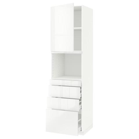 Высокий шкаф для СВЧ/дверца/4ящика МЕТОД / МАКСИМЕРА белый артикуль № 391.706.66 в наличии. Онлайн магазин IKEA Минск. Быстрая доставка и соборка.