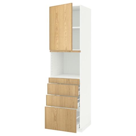 Высокий шкаф для СВЧ/дверца/4ящика МЕТОД / МАКСИМЕРА белый артикуль № 791.706.50 в наличии. Онлайн магазин IKEA РБ. Быстрая доставка и соборка.