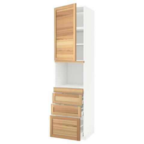 Высокий шкаф для СВЧ/дверца/4ящика МЕТОД / МАКСИМЕРА белый артикуль № 891.707.44 в наличии. Интернет сайт IKEA Беларусь. Недорогая доставка и монтаж.