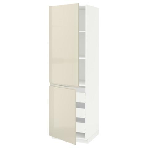 Высокий шкаф + полки, 3 ящика, 2 дверцы МЕТОД / МАКСИМЕРА белый артикуль № 691.683.08 в наличии. Онлайн магазин IKEA РБ. Быстрая доставка и монтаж.