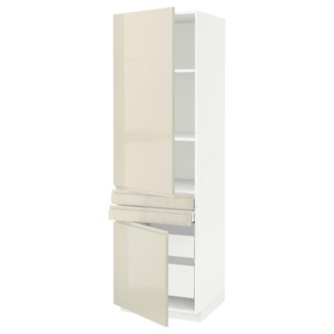 Высокий шкаф + полки, 4 ящик, 2 двери, 2 фронтальные МЕТОД / МАКСИМЕРА белый артикуль № 091.683.11 в наличии. Online магазин IKEA Беларусь. Недорогая доставка и установка.
