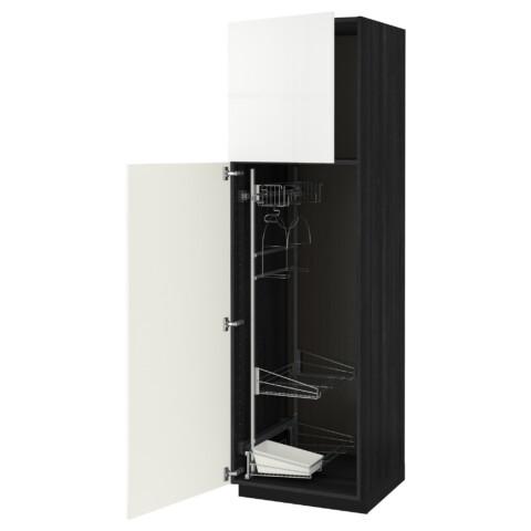 Высокий шкаф с отделением для аксессуаров, для уборки МЕТОД белый артикуль № 091.626.39 в наличии. Online магазин IKEA РБ. Недорогая доставка и соборка.