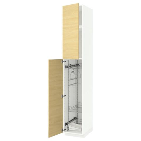 Высокий шкаф с отделением для аксессуаров, для уборки МЕТОД белый артикуль № 091.642.71 в наличии. Online магазин ИКЕА Минск. Недорогая доставка и установка.