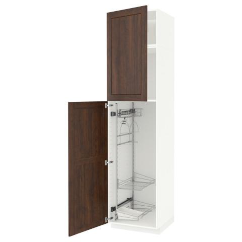 Высокий шкаф с отделением для аксессуаров, для уборки МЕТОД белый артикуль № 091.643.13 в наличии. Онлайн сайт ИКЕА Беларусь. Недорогая доставка и установка.