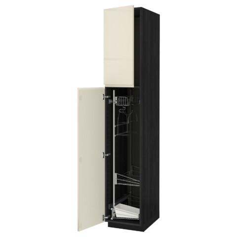 Высокий шкаф с отделением для аксессуаров, для уборки МЕТОД черный артикуль № 091.669.39 в наличии. Онлайн сайт IKEA Республика Беларусь. Быстрая доставка и установка.
