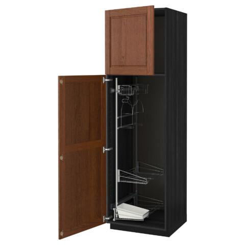 Высокий шкаф с отделением для аксессуаров, для уборки МЕТОД черный артикуль № 291.626.24 в наличии. Онлайн каталог IKEA Беларусь. Недорогая доставка и установка.