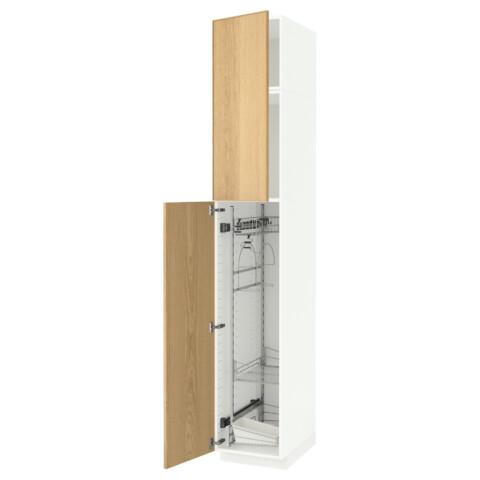 Высокий шкаф с отделением для аксессуаров, для уборки МЕТОД белый артикуль № 291.642.51 в наличии. Интернет каталог IKEA Минск. Быстрая доставка и соборка.