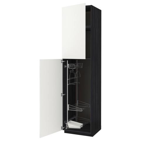 Высокий шкаф с отделением для аксессуаров, для уборки МЕТОД черный артикуль № 291.642.89 в наличии. Online каталог IKEA РБ. Недорогая доставка и монтаж.
