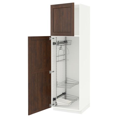 Высокий шкаф с отделением для аксессуаров, для уборки МЕТОД белый артикуль № 391.626.52 в наличии. Online магазин IKEA Республика Беларусь. Быстрая доставка и установка.