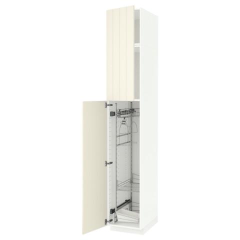Высокий шкаф с отделением для аксессуаров, для уборки МЕТОД белый артикуль № 391.642.55 в наличии. Интернет магазин IKEA Минск. Быстрая доставка и монтаж.