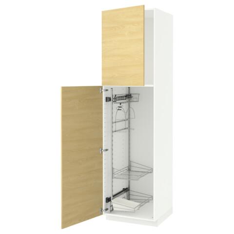 Высокий шкаф с отделением для аксессуаров, для уборки МЕТОД белый артикуль № 391.643.97 в наличии. Online сайт IKEA Республика Беларусь. Быстрая доставка и установка.