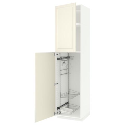 Высокий шкаф с отделением для аксессуаров, для уборки МЕТОД белый артикуль № 491.643.11 в наличии. Online сайт IKEA Минск. Быстрая доставка и монтаж.