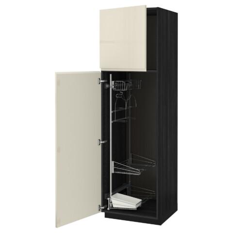 Высокий шкаф с отделением для аксессуаров, для уборки МЕТОД черный артикуль № 491.669.37 в наличии. Интернет каталог ИКЕА РБ. Недорогая доставка и установка.