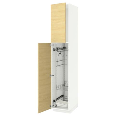 Высокий шкаф с отделением для аксессуаров, для уборки МЕТОД белый артикуль № 591.624.20 в наличии. Интернет магазин IKEA Минск. Быстрая доставка и установка.