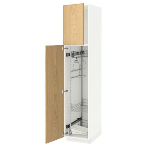 Высокий шкаф с отделением для аксессуаров, для уборки МЕТОД белый артикуль № 591.625.52 в наличии. Онлайн каталог IKEA РБ. Быстрая доставка и монтаж.