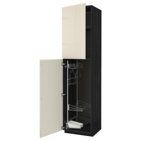 Высокий шкаф с отделением для аксессуаров, для уборки МЕТОД черный артикуль № 591.669.27 в наличии. Онлайн сайт ИКЕА Беларусь. Недорогая доставка и соборка.