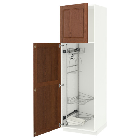Высокий шкаф с отделением для аксессуаров, для уборки МЕТОД белый артикуль № 691.626.55 в наличии. Интернет каталог IKEA Минск. Недорогая доставка и соборка.