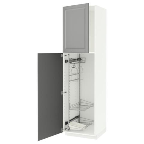 Высокий шкаф с отделением для аксессуаров, для уборки МЕТОД серый артикуль № 691.643.72 в наличии. Онлайн сайт IKEA Беларусь. Недорогая доставка и монтаж.