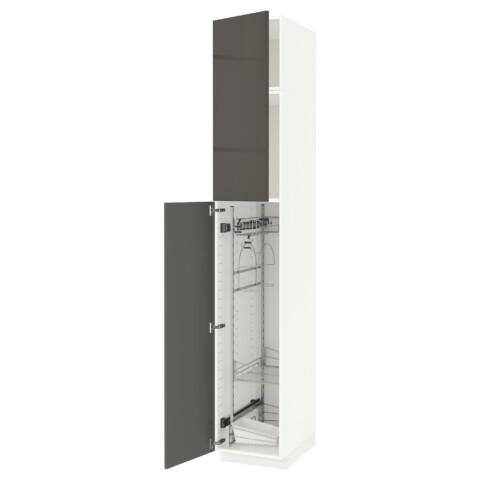 Высокий шкаф с отделением для аксессуаров, для уборки МЕТОД белый артикуль № 791.642.63 в наличии. Онлайн сайт IKEA Беларусь. Быстрая доставка и монтаж.