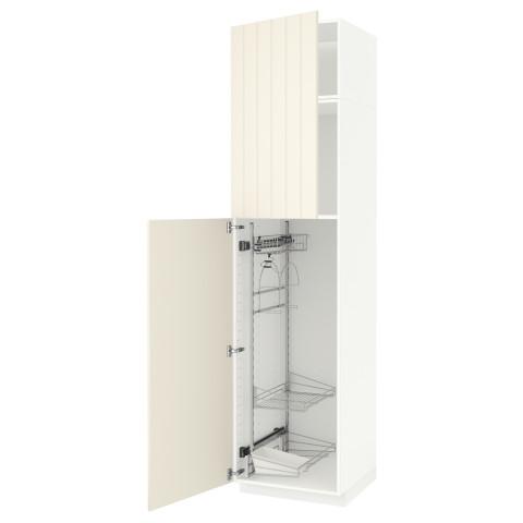 Высокий шкаф с отделением для аксессуаров, для уборки МЕТОД белый артикуль № 791.643.19 в наличии. Online магазин IKEA РБ. Быстрая доставка и соборка.