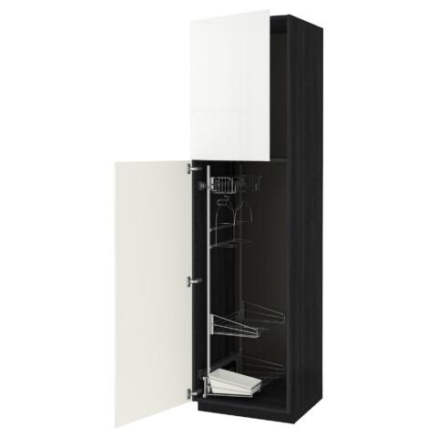 Высокий шкаф с отделением для аксессуаров, для уборки МЕТОД белый артикуль № 791.643.62 в наличии. Online магазин IKEA РБ. Быстрая доставка и установка.