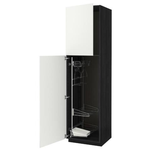 Высокий шкаф с отделением для аксессуаров, для уборки МЕТОД черный артикуль № 891.643.52 в наличии. Онлайн магазин IKEA Республика Беларусь. Быстрая доставка и монтаж.