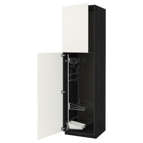 Высокий шкаф с отделением для аксессуаров, для уборки МЕТОД белый артикуль № 891.643.71 в наличии. Online сайт IKEA РБ. Быстрая доставка и соборка.