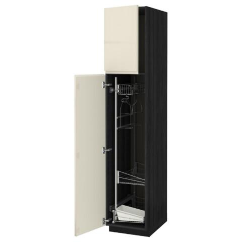 Высокий шкаф с отделением для аксессуаров, для уборки МЕТОД черный артикуль № 891.669.35 в наличии. Интернет каталог ИКЕА РБ. Недорогая доставка и монтаж.