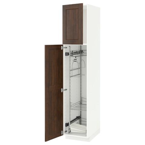 Высокий шкаф с отделением для аксессуаров, для уборки МЕТОД белый артикуль № 991.625.50 в наличии. Онлайн магазин ИКЕА РБ. Быстрая доставка и монтаж.