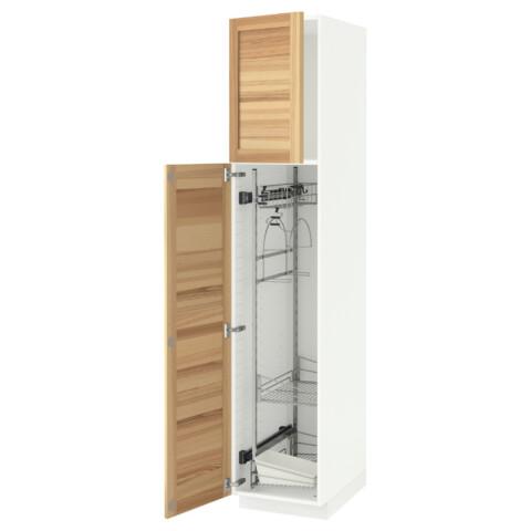 Высокий шкаф с отделением для аксессуаров, для уборки МЕТОД белый артикуль № 991.625.74 в наличии. Online каталог IKEA РБ. Недорогая доставка и соборка.