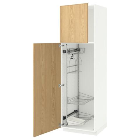 Высокий шкаф с отделением для аксессуаров, для уборки МЕТОД белый артикуль № 991.626.54 в наличии. Online магазин IKEA Республика Беларусь. Недорогая доставка и установка.