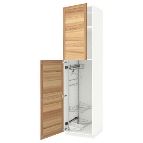 Высокий шкаф с отделением для аксессуаров, для уборки МЕТОД белый артикуль № 991.643.37 в наличии. Online сайт IKEA Республика Беларусь. Недорогая доставка и монтаж.