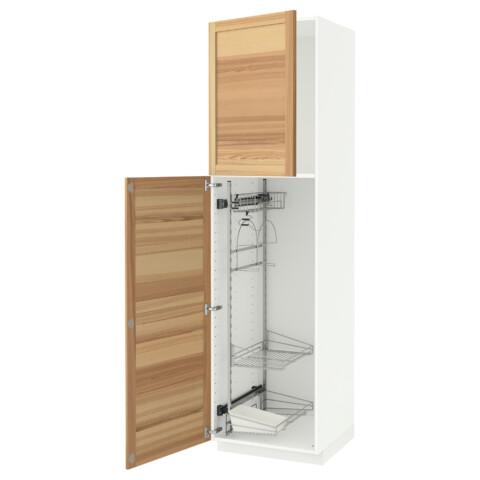 Высокий шкаф с отделением для аксессуаров, для уборки МЕТОД белый артикуль № 991.643.99 в наличии. Online магазин IKEA Минск. Недорогая доставка и соборка.