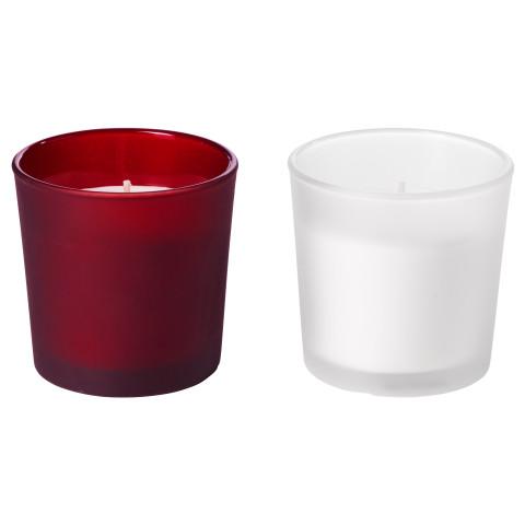 Ароматическая свеча в стакане ВИНТЕР 2016 красный артикуль № 703.205.26 в наличии. Онлайн сайт IKEA Республика Беларусь. Быстрая доставка и установка.