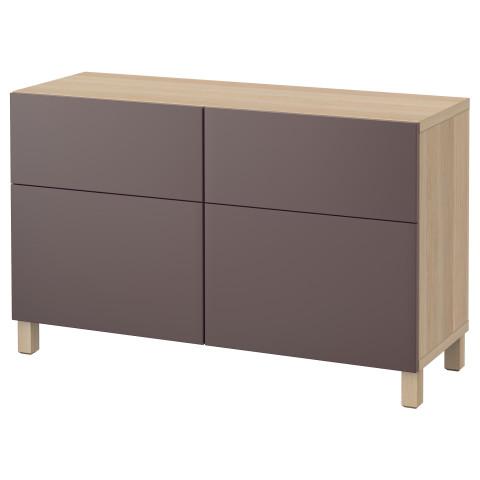 Комбинация для хранения с дверцами, ящиками БЕСТО темно-коричневый артикуль № 591.365.96 в наличии. Интернет каталог IKEA Беларусь. Быстрая доставка и монтаж.
