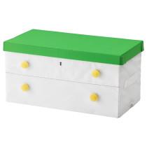 Коробка с крышкой ФЛЮТТБАР зеленый артикуль № 603.288.44 в наличии. Интернет магазин ИКЕА Минск. Быстрая доставка и монтаж.