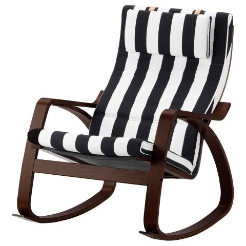 Кресло-качалка ПОЭНГ черный/белый артикуль № 291.813.59 в наличии. Онлайн сайт IKEA РБ. Недорогая доставка и установка.