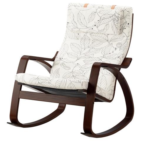 Кресло-качалка ПОЭНГ черный/белый артикуль № 391.812.69 в наличии. Интернет магазин IKEA Республика Беларусь. Недорогая доставка и монтаж.