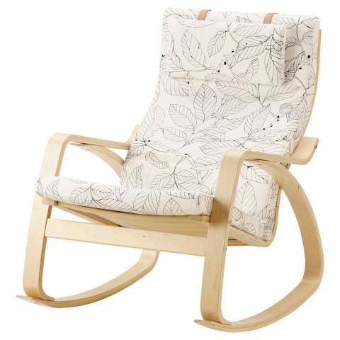 Кресло-качалка ПОЭНГ черный/белый артикуль № 491.812.64 в наличии. Интернет магазин IKEA Республика Беларусь. Быстрая доставка и соборка.